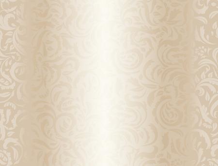 Luxe crème achtergrond met bloemmotief Stockfoto - 36401765