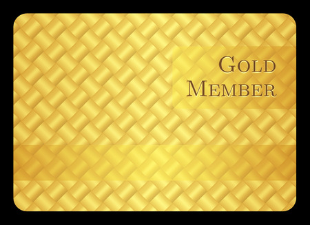 Golden member card with modern pattern