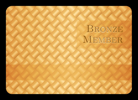Bronze member card with diagonal crossing bar template Vector