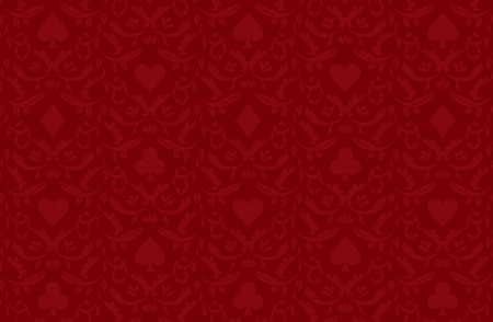 Luxury red poker background with card symbols Vector