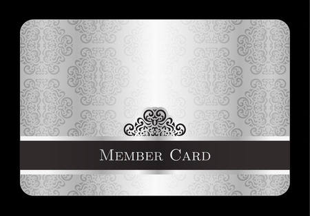 Luxury silver member card with vintage floral pattern Stock fotó - 41103057