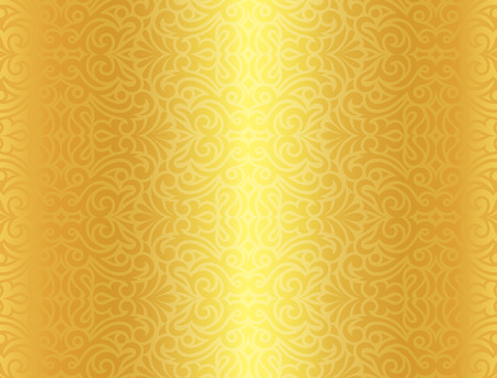 Luxury golden background with vintage pattern