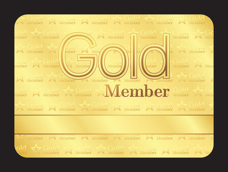 membership: Gold member club card with small stars pattern