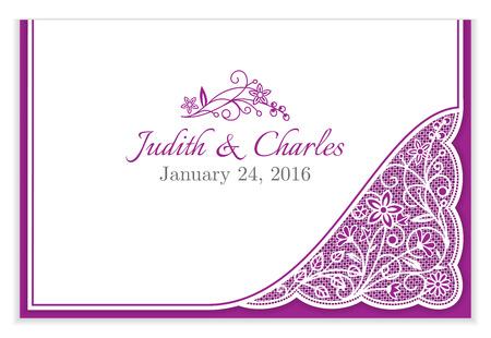 encaje: Anuncio de la boda cl�sica con encaje floral blanco