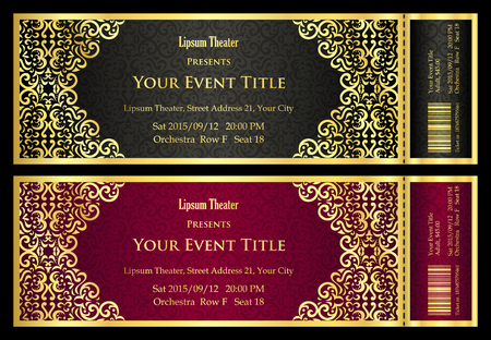 53517 Ticket Cliparts Vector And Royalty Free Ticket – Theater Ticket Template