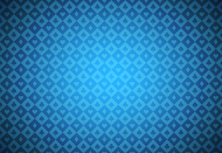 skyblue: Minimalistic blue poker background with texture composed from card symbols