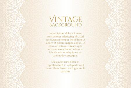 encaje: fondo del champán de lujo de la vendimia con el ornamento floral Vectores