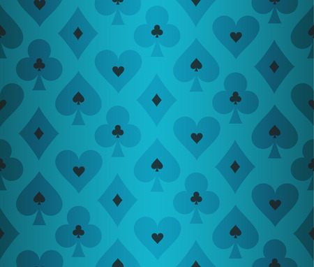 Simple turquoise poker background with transparent effect