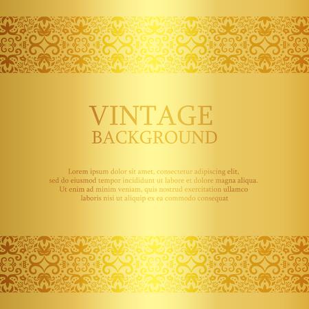 fond d'or Vintage avec top en dentelle et la décoration vers le bas