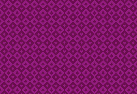 Minimalistic purple poker background with seamless texture composed from card symbols