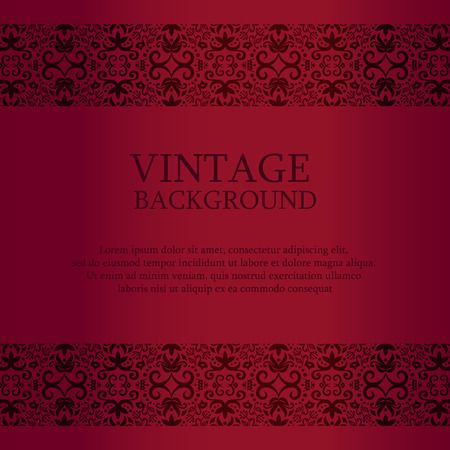 Vintage red background with lace top and down decoration