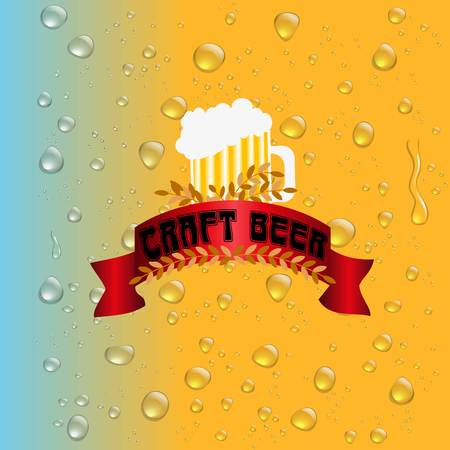 frothy: Water drops on the background of the beer