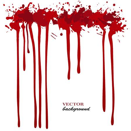ink stain: Vector red Ink stain, blots and splashes. Isolated paint drops, design elements.Red paint