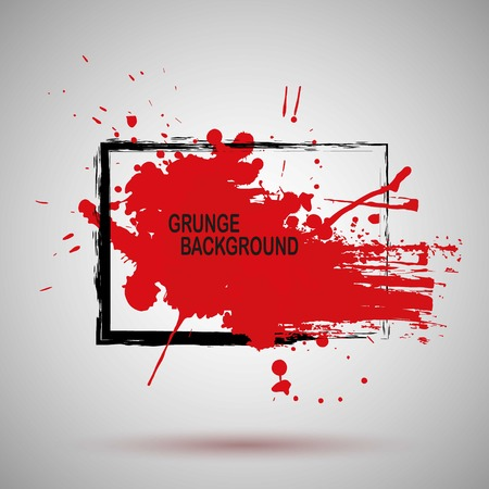 Grunge Illustration Black and red Paint Spray Texture, Background to Create Grunge Effect . Illusztráció
