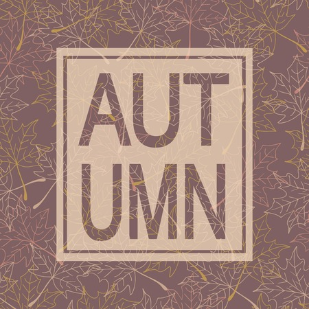 pastel shades: Autumn background with text. Maple leaves. Pastel shades Stock Photo