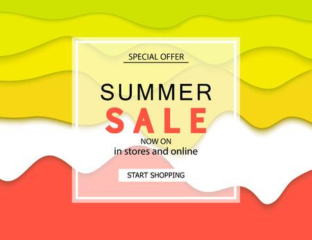 Summer sale banner. Vector illustration eps 10 format. Template, banners. Wallpaper, flyers, invitation ,posters, brochure
