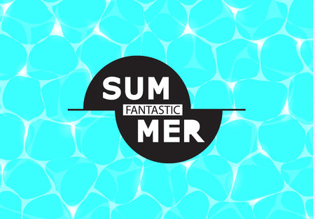 Vector illustration of shiny blue water. Fantastic summer. Illustration can be used for web design, textures, summer posters, trip and vacations cards design