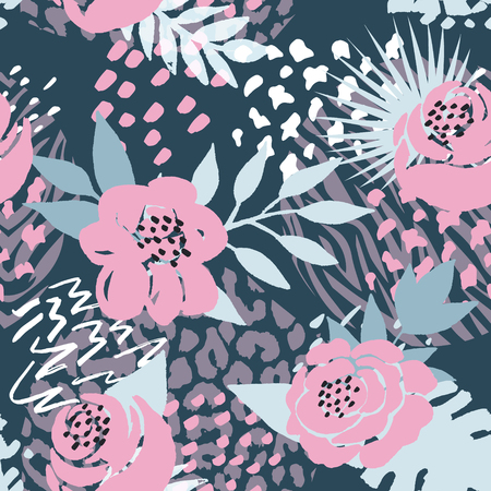 Beautiful seamless vector floral pattern background. Perfect for wallpapers, web page backgrounds, surface textures, textile and other design