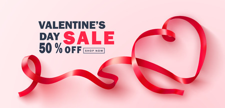 Valentine s Day sale background.Beautiful Background with red tulips. Vector illustration for postcards,posters, coupons, promotional material