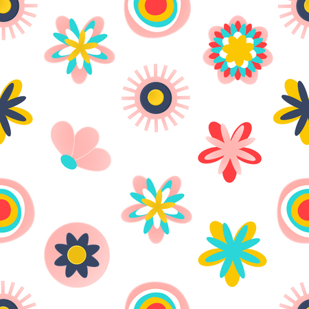 Floral seamless pattern.Modern abstract design for paper, wallpaper, cover, fabric and other users. Vector illustration.