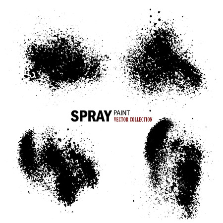 Vector collection of paint splashes on white background. Vector illustration. Vettoriali
