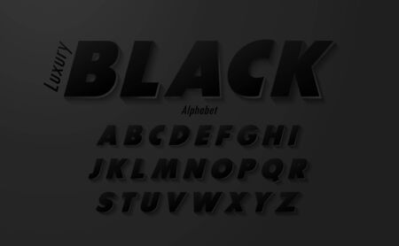 Vector luxury Black Alphabet Letters.Creative vector font.Modern style.