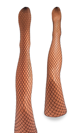 fishnet tights: Legs mannequins isolated on white background