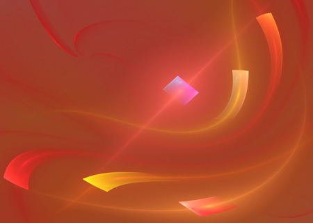 Red and yellow fractal color background for design and wallpaper