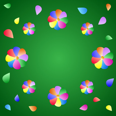 Multicolored floral background. Vector illustration Illustration