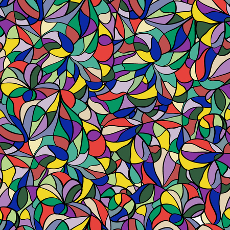 Abstract colorful seamless pattern for banner, card, invitation, textile, fabric, wrapping paper. Vector illustration