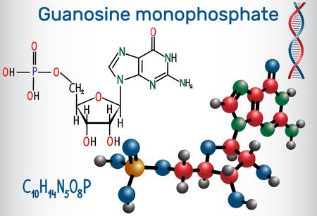 Guanosine Monophosphate Gmp Molecule It Is An Ester Of Phosphoric