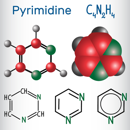 Pyrimidine molecule illustration 写真素材 - 99833570