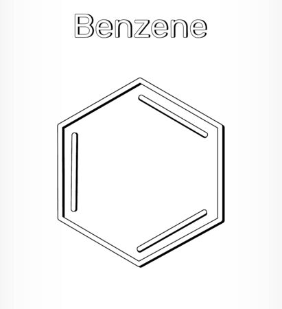 Benzene molecule  C6H6 - structural chemical. Vector illustration