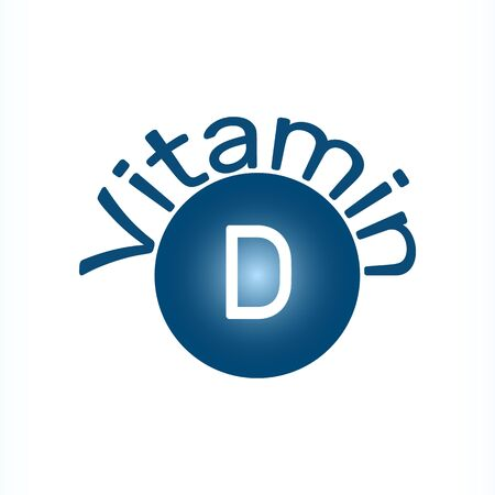 Vitamin D icon. It is group of fat-soluble secosteroids: calcitriol, ergocalciferol, colecalciferol. Vector illustration