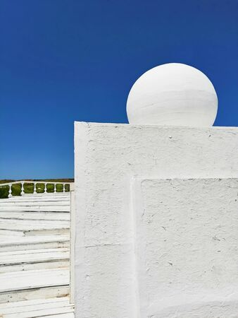 architectural geometric shapes against the sky