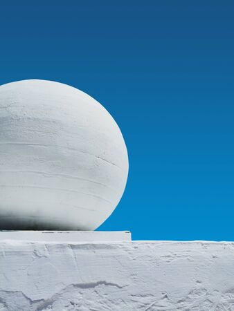 architectural element of white color against the sky Banco de Imagens