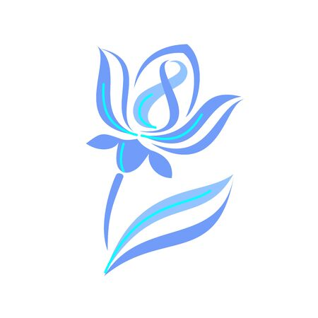 womens Day. stylized flower - logo on a white background.