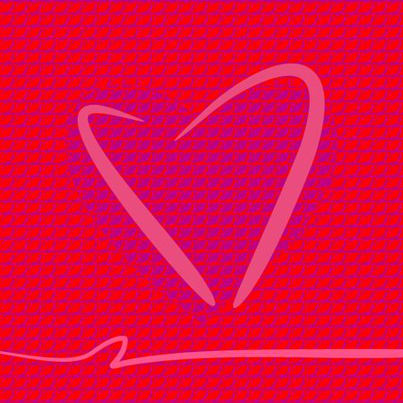Valentines Day - square background with heart for design or web