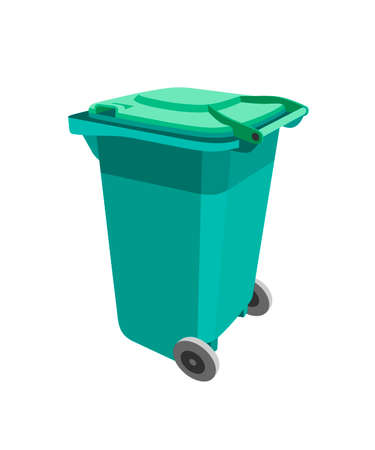 green recycle bin Isolated on white background vector Vektorgrafik