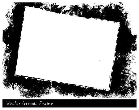 Marco de rectángulo de vector Grunge con fondos dibujados a mano de textura de lino Ilustración de vector