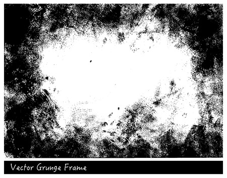 Vector Grunge frame with linen texture hand drawn backgrounds