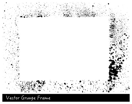 Vector Grunge rectangle frame with splash texture hand drawn backgrounds