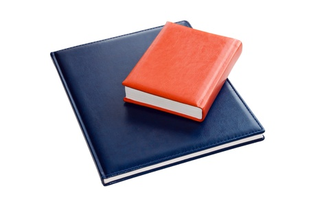 Notebooks isolated on a white background photo