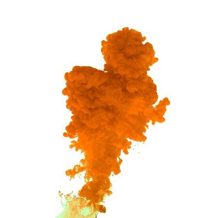 Roter Farbspritzer. Abstrakter Hintergrund Standard-Bild