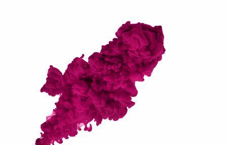 Roter Farbspritzer. Abstrakter Hintergrund