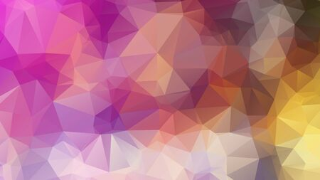 Abstract geometric style brown background. Autumn-colored business background Vector illustration. Red, brown, purple colors. Simple polygon background
