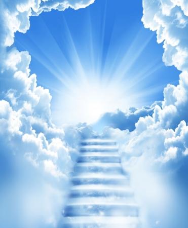 escaliers dans le ciel  Banque d'images