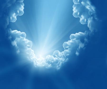 ciel avec nuages: Nuages ??belle fantaisie Banque d'images