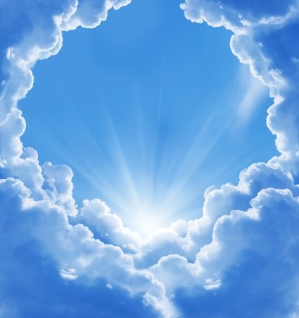 jesus in heaven: beautiful clouds