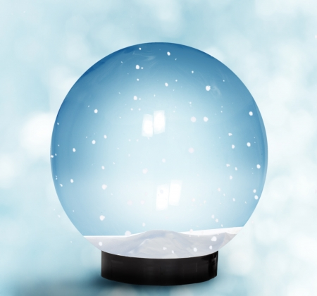 snowglobe:  Snow Dome With Falling Snow
